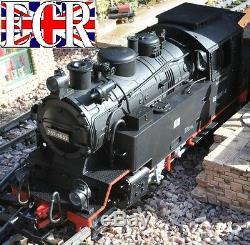 Nouveau G Scale Rc Loco & 3 Red Starter Jardin Entraîneurs De Chemin De Fer 45mm Calibre Train Set
