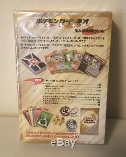 Pokemon Neo Starter Pont Japonais 2000 Genesis Set Booster