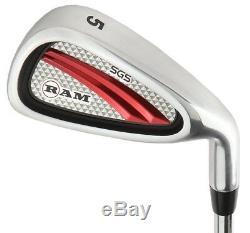 Ram Golf Sgs Mens Golf Clubs Starter Set Avec Stand Bag Steel Shafts