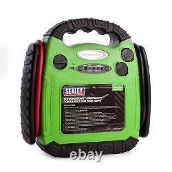 Sealey Rs1312hv 12v 900a Portable Emergency Car Battery Jump Starter Power Pack