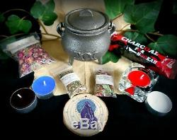 Sorcières Énormes Starter Set & Ouvre Kit Herb Wicca Pagan Baguette Calice Cauldron
