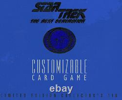Star Trek Ltd Collectors Tin Sealed 1995 Decipher Prochaine Génération Gcc Amricons